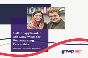 Image for Cora Weiss Fellowship for Young Women Peacebuilders / Friends of WPS: 2020-2021 Women Peace Makers Fellowship