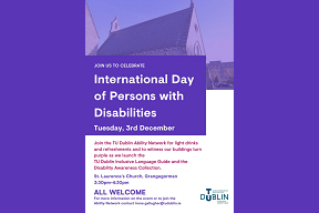 Image for International Day of Persons with Disabilities - Tuesday 3rd December