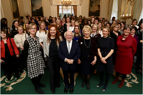 Image for Michael D. Higgins, President of Ireland, hosts event for International Women's Day (IWD) 2019