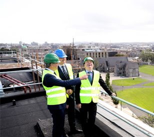 Image for TU Dublin Celebrates Central Quad Topping-Out Ceremony